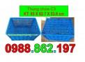 Thùng nhựa rỗng, thùng chứa C3, thùng nhựa công nghiệp, thùng nhựa có bánh xe, s