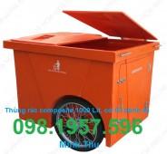 Xe gom rác , xe đựng rác, thùng rác có bánh xe, thùng rác, xe rác 660l