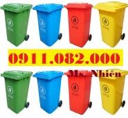 Nơi bán sỉ lẻ thùng rác 120L 240L 660L giá rẻ tại trà vinh- lh 0911082000
