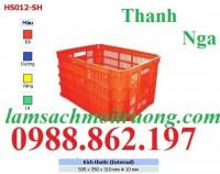 Rổ nhựa, Sóng nhựa,sóng nhựa Hs012 thùng đan lưới , rổ nhựa tròn, rổ nhựa vuông