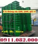Nơi bán thùng rác 120 lít 240 lít giá rẻ tại hậu giang- thùng rác công cộng- lh