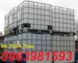 Tank IBC, tank đựng hóa chất, bồn nhựa 1000l giá rẻ
