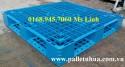 Pallet nhựa 1100x1100mmx150mm màu xanh biển