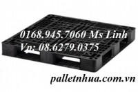 Pallet nhựa đen 1200x800x120mm