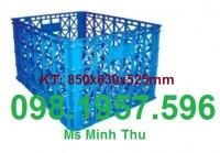 Rổ nhựa đan , rổ nhựa đựng thành phẩm. sọt nhựa hs022