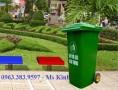 mua thùng rác 240l giá rẻ, thùng rác con thú, bán thùng rác công cộng