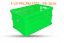 sọt nhựa đựng đồ, rổ nhựa to dùng trong xưởng may, thùng nhựa bít cao 38 cm