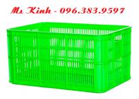 giỏ nhựa chữ nhật đựng hàng, rổ nhựa lớn cao 50 cm, thùng nhựa hở dài 6 tấc