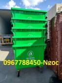 Bán thùng rác nhựa 660 lít có 4 bánh xe giá rẻ toàn quốc.
