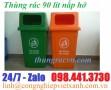 Thùng rác nhựa 90 lít nắp hở Model: MGB90H Kích thước: 550 x 420 x H 900mm C