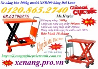 Xả hàng giá sốc xe nâng bàn 500kg nâng cao 900mm hàng Đài Loan LH: 01208652740