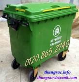 Xả hàng cuối năm thùng rác 660L, xe đẩy rác 660L, thùng rác 660L nhựa HDPE