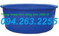 Thùng nhựa 3000 lít, thùng nhựa tròn, thùng nhựa vuông SIÊU RẺ