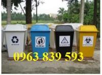 Bán thùng rác nhựa công nghiệp 100L-120L-240L-660L làm theo yêu cầu.