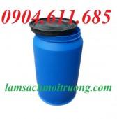 Thùng phuy nhựa 220 lít, thùng phuy nắp hở, thùng phuy nhựa làm bè giá rẻ