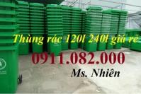 Mua bán thùng rác giá rẻ- giảm giá thùng rác 120 lít 240 lít giá thấp- lh 091108