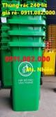 Chuyên bán thùng rác 240 lít, thùng rác công cộng giá rẻ- thùng rác giá gốc