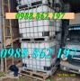tank ibc cũ giá rẻ,thùng nhựa 1000l có khung thép, bồn nhựa 1000l nuôi cá