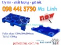 Pallet nhựa 1000x600x100mm xanh
