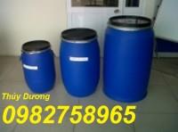 Thùng phuy nhựa 100 lít, thùng chứa, thùng phuy đựng nhiên liệu giá rẻ
