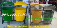 Thùng phân loại rác 2 ngăn nhựa composite giá siêu rẻ - khuyến mãi cực sốc