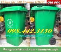 Thùng rác nhựa 240 lít giảm giá cực sốc call 0984423150 – Huyền