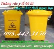 Thùng rác y tế 60 lít màu vàng chứa chất thải nguy hại lây nhiễm