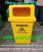 Thùng rác y tế 95 lít màu vàng chứa chất thải nguy hại lây nhiễm