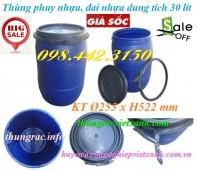 Thùng phuy nhựa 30 lít đai nhựa giá siêu rẻ call 0984423150 – Huyền