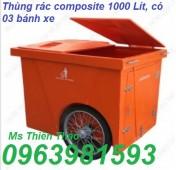 Xe gom rác, xe đựng rác, thùng rác có bánh xe, thùng rác, xe rác,
