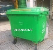 Cung cấp thùng rác nhựa 660 lít, thùng rác công cộng 4 bánh xe call 0916.944.470