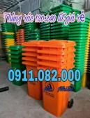 Thùng rác giá rẻ hàng nhập khẩu- thùng rác 120 lít 240 lít giá thấp tại vĩnh lon