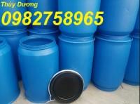 Cung cấp thùng phuy nhựa cũ, thùng phuy nắp hở, thùng phuy đựng hóa chất giá rẻ