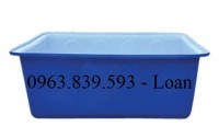 Thùng nhựa đặc đựng nước chữ nhật, thùng nhựa tròn, thùng nhựa làm bể bơi