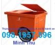 Xe thu gom rác 660 lít ba bánh xe nhựa Composite