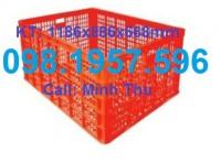 Sọt nhựa 26 bánh xe, sọt nhựa đựng trái cây, SỌT NHỰA HS015,