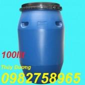 Thùng phuy nhựa 220 lít, thùng phuy nắp hở, thùng phuy nắp kín giá rẻ