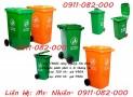 Sỉ lẻ thùng rác 120 lít 240 lít giá rẻ tại sóc trăng- thùng rác công cộng