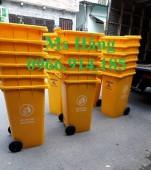 Thùng rác 120 lít có bánh xe,thùng rác công cộng có bánh xe