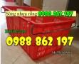 thùng nhựa HS011, sọt nhựa công nghiệp, sọt nhựa đựng nông sản, sọt nhựa quai sắ