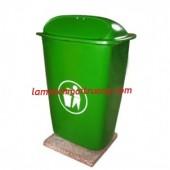 Thùng rác nhựa Composite 50l, thùng rác đạp chân 60l, thùng rác công cộng giá rẻ