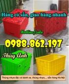 thùng nhựa, thùng nhựa đặc, thùng nhựa đặc cao 43cm, khay nhựa cao 43cm, thùng n