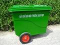 Thùng rác 660l, thùng rác 660l nắp mở, thùng rác công cộng giá rẻ