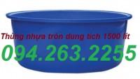 Thùng nhựa dung tích 3000l, thùng nuôi cá, thùng nhựa tròn