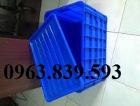 Hộp nhựa, thùng nhựa đa năng chở hàng sau xe máy, thùng nhựa có nắp