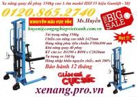 Khuyến mãi giá sốc xe nâng quay đổ phuy 350kg nâng cao 1400mm call 01208652740