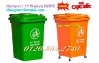 Bán thùng rác 60 lít, thùng rác nhựa 60L có bánh xe giá cực sốc, siêu rẻ