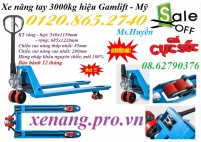 Xe nâng tay 3000kg hiệu Gamlift – Mỹ giảm giá cực sốc, giá siêu rẻ