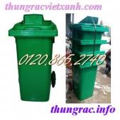 Thùng rác 120 lít nắp hở, thùng rác 240 lít nắp hở giá siêu rẻ call 01208652740