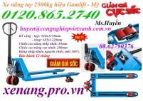 Khuyến mãi xe nâng tay 2500kg hiệu Gamlift – Mỹ giảm giá sốc, giá siêu rẻ